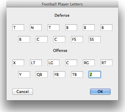 PlayMaker Pro Player Letters